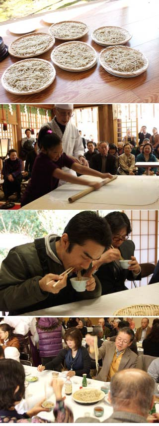 Soba Making at Gokoku Shrine