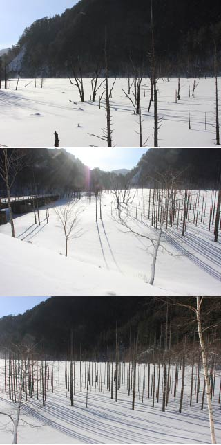 Lake Shizenko in winter