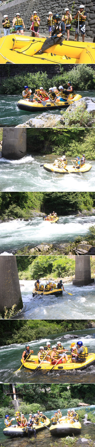 Rafting at Kiso River