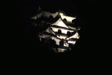 Hikone Castle at night