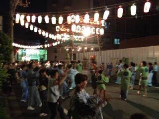 Ushijima Shrine Bon Odori Honjo 1