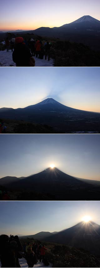 Diamond Fuji at Mt. Ryugadake